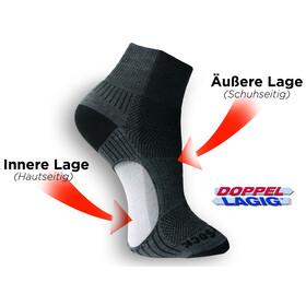 Wrightsock Coolmesh II Quarter Socks Grey